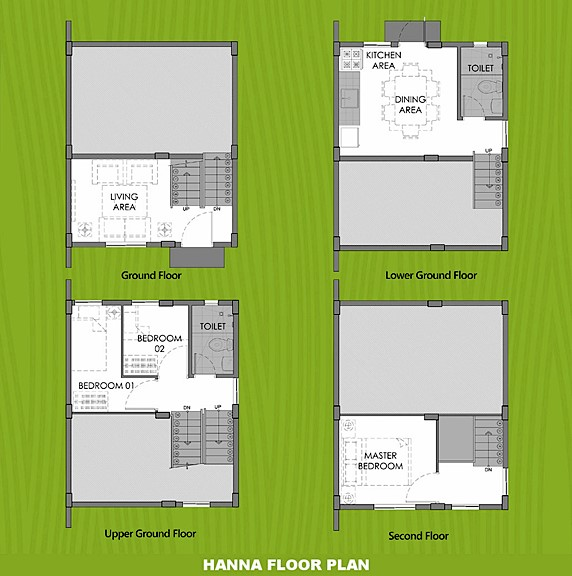 Hanna Floor Plan House and Lot in Ormoc