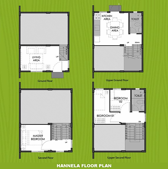 Hannela Floor Plan House and Lot in Ormoc