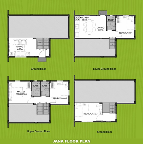 Janna Floor Plan House and Lot in Ormoc