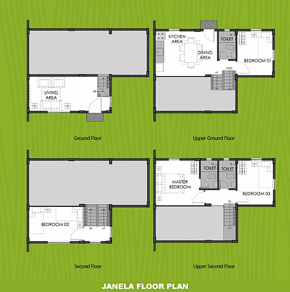 Janela Floor Plan House and Lot in Ormoc