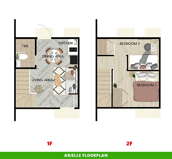 Arielle Floor Plan House and Lot in Ormoc