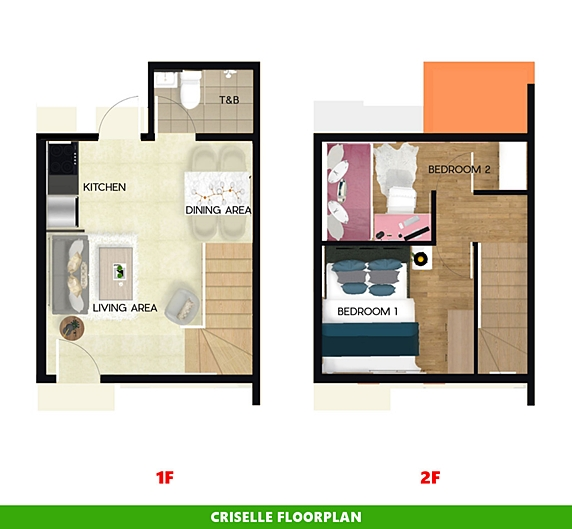 Criselle Floor Plan House and Lot in Ormoc