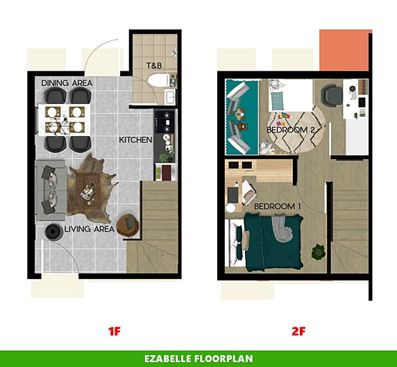Ezabelle Floor Plan House and Lot in Ormoc