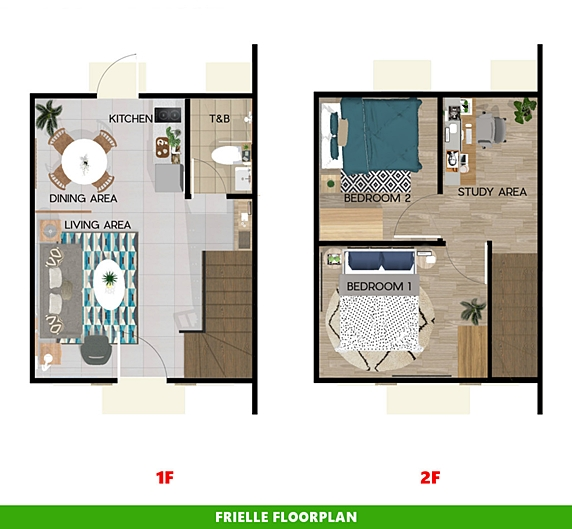 Frielle Floor Plan House and Lot in Ormoc